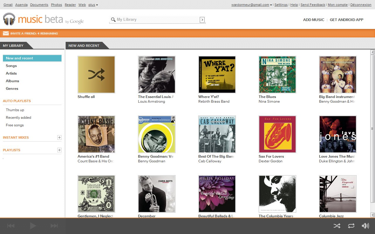 Interface Google Music