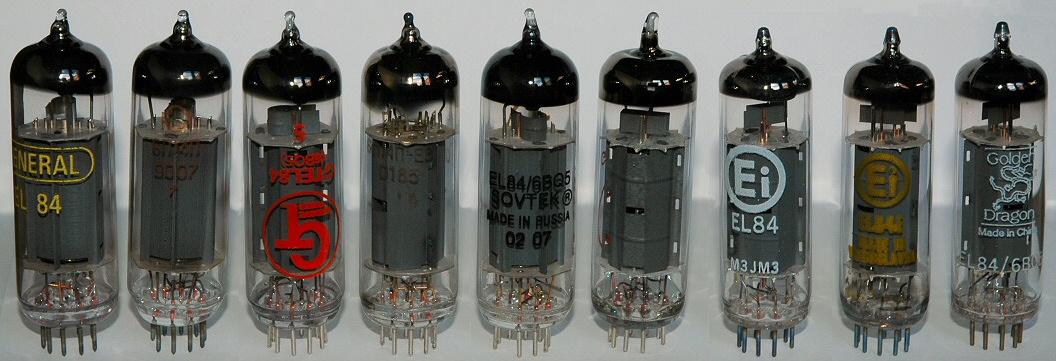 Assortiment de tubes EL84
